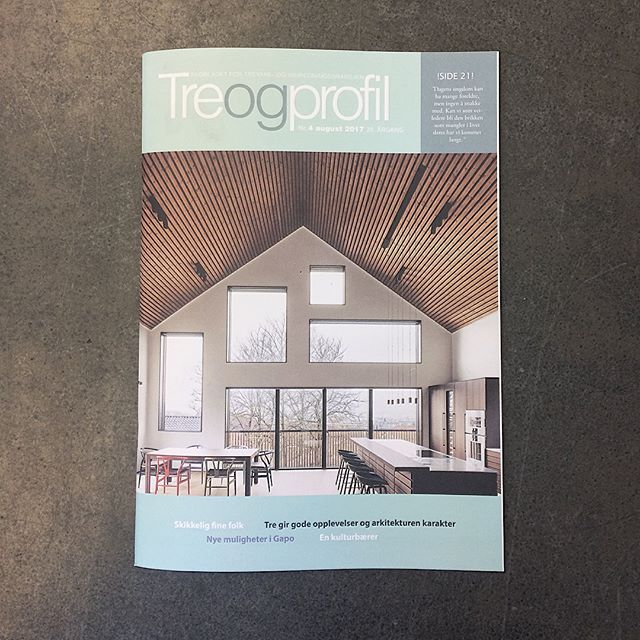 wood a+d er med i nyeste utgave av Tre og profil😊 Johanne og CF har blant annet blitt intervjuet om bruk av tre i arkitekturen🌳