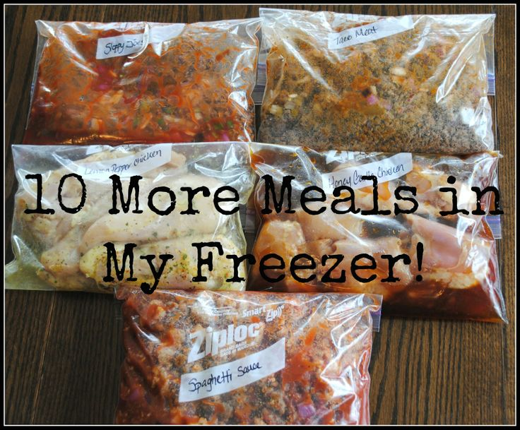 Spaghetti Meat Sauce, Honey Chicken, Sloppy Joes & More Crockpot Freezer Meals via Six Cents