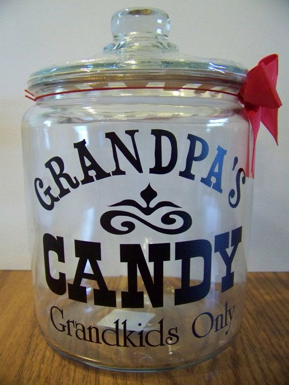 """I did something similar to this for Ricky """"Pawpaws Cookies Grandkids only"""""""