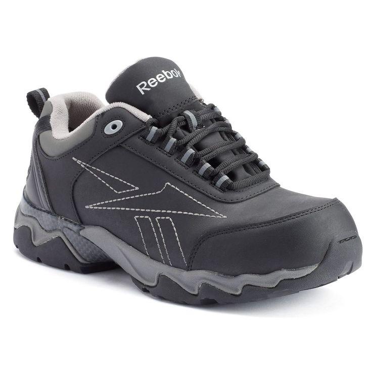Reebok Work Beamer Men's Composite-Toe Shoes, Size: medium (10.5), Black