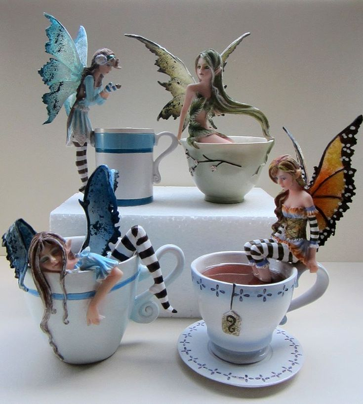 The coffee/tea/cocoa figurines are back in stock. Just to be clear, these are hand painted resin figurines for decorative purposes, not actual cups. All info on purchasing, size, price, etc can be found by following this link: http://www.amybrownart.com/.