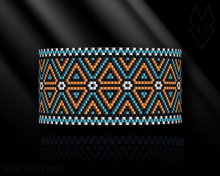 Peyote bracelet pattern peyote pattern peyote stitch Miyuki | Etsy