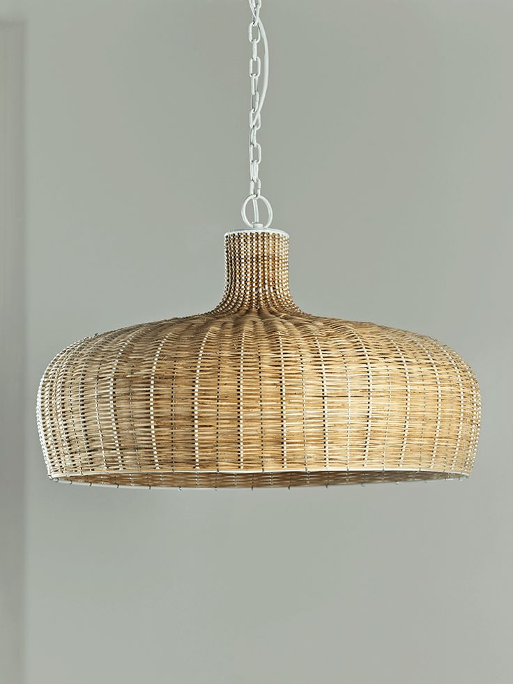 Charming Add A Touch Of Scandinavian Style To Your Lighting With Our Woven Rattan  Pendant. With An Elegant Parasol Shape And Sleek White Chain, It Has A  Lovely ... Ideas