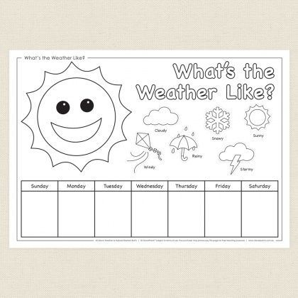 childrens colouring in activity whats the weather like activity sheet cleverpatch