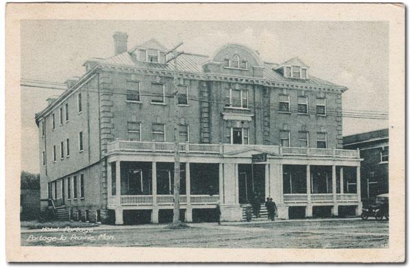 Historic Sites of Manitoba: Portage Hotel (Saskatchewan Avenue, Portage la Prairie)