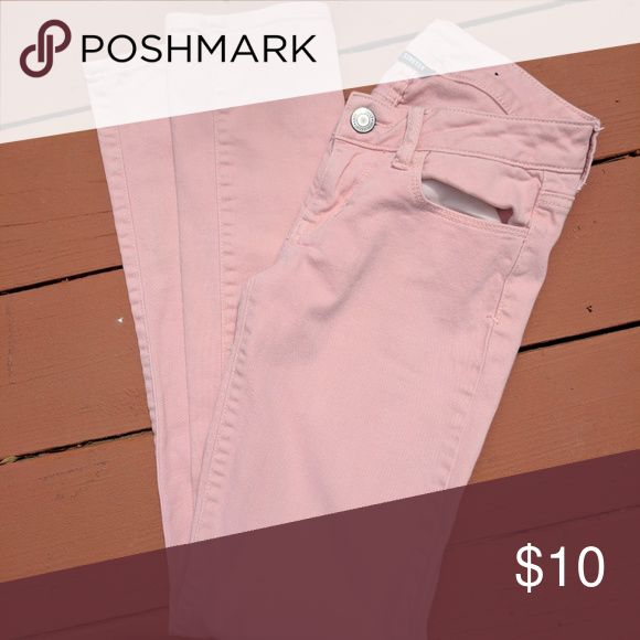 Pink American Eagle Skinny Pants Pink American Eagle Skinny pants In great condition!************************************************************ Tag Words Cute summer dress pretty simple solid black fancy sexy woman great size medium small xl large skirts pants tops jeans shorts kids boy girl men junior blouse comfy soft American Eagle Outfitters Pants