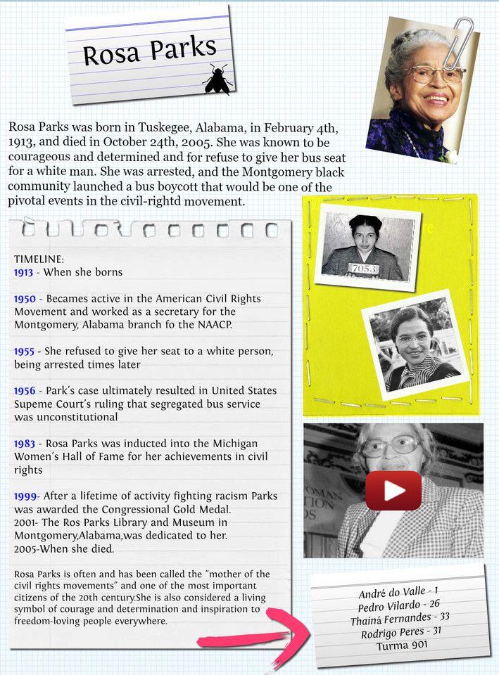 rosa parks timeline | Rosa Parks, Biografia. | Publish with Glogster!