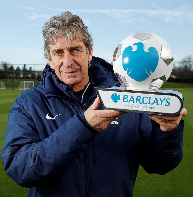 Manuel Pellegrini wins Premier League Manager of the Month for December after winning five...