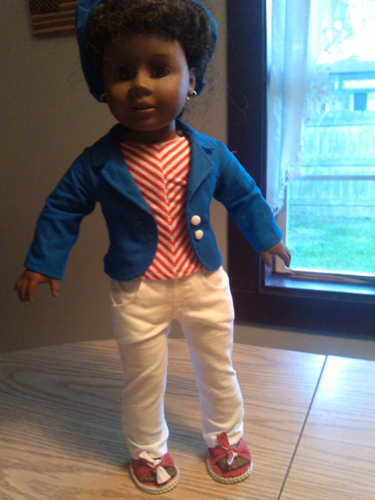 Handmde Doll Clothing by Shirley Hoy.  Made to fit the American Girl Doll.  *** Doll clothing is handmade by my mother Shirley Hoy. Shirley has created garments that have been modeled by Christie Brinkley and has had her Handmade Swim Suits featured on the covers of both Time Magazine and Sports Illistrated simultaniously. ***  the link below to learn more and to place an order.  https://www.etsy.com/listing/160370057/handmade-american-girl-doll-skinny-jeans?ref=shop_home_active