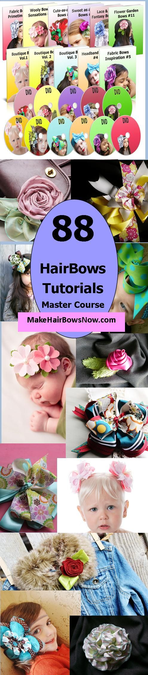 Learn How to Make HairBows & Accessories / 88 Designs / Premier Master Course