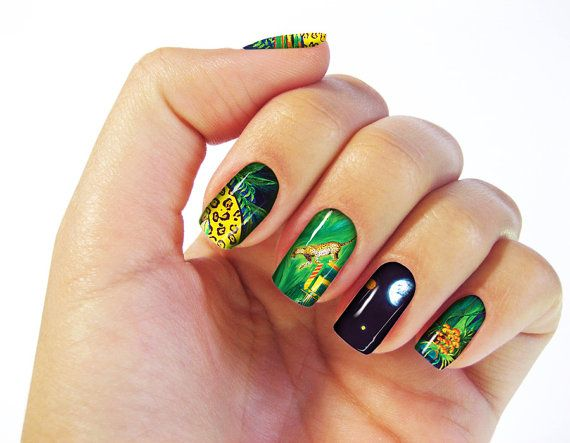 In The Mayan Woods Nail Wraps  Fine Art Design Set of by CRCases