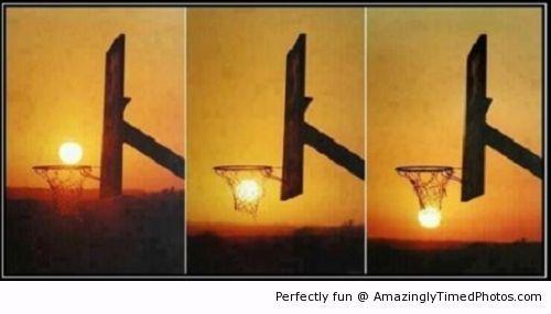 Sunset basketball...neat.