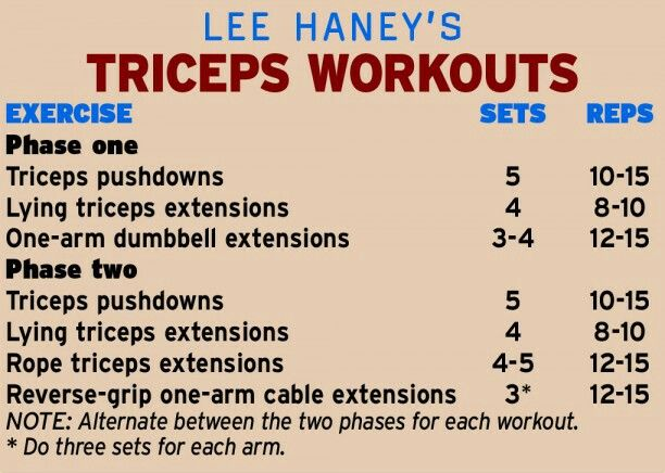 Lee Haney Triceps Workout 2 Phases