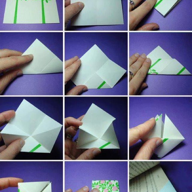 Marcador de livro: Crafty Bookmarks, Crafts Ideas, Easy Origami, Diy Crafts, Crafts Bookmarks, Easy To Make Bookmarks, Origami Bookmarks, Cute Bookmarks Diy, Paper Bookmarks Diy
