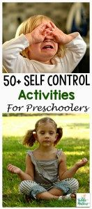 "Preschool Self Control Activities— I don't necessarily agree with the idea of ""teaching"" self control as it has more to do with cognitive and physical development than it does with the child being ""taught,"" but nonetheless, there are some fun activity & game ideas in the article."