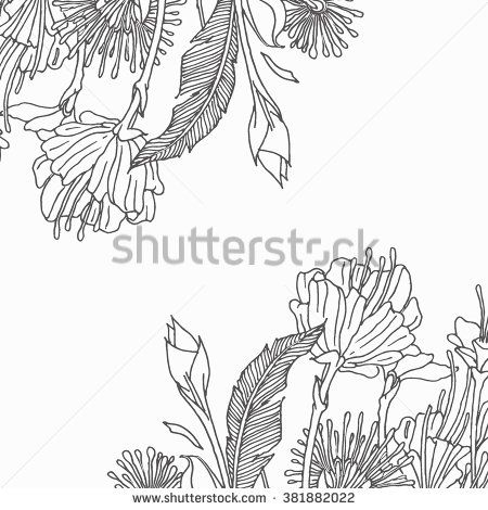 Vector floral .floral collections with leaves and flowers, hand drawn flower elements.Colorful floral collectiont. floral elements for your compositions. - stock vector