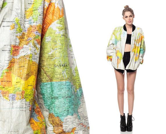 Recycled Fashion: Travel Inspired Vintage Map Clothing
