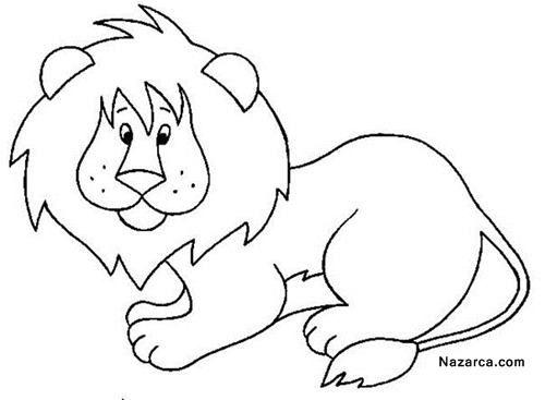 okul-oncesi-hayvan-boyama-sablonlari-sirin-aslan-resmi
