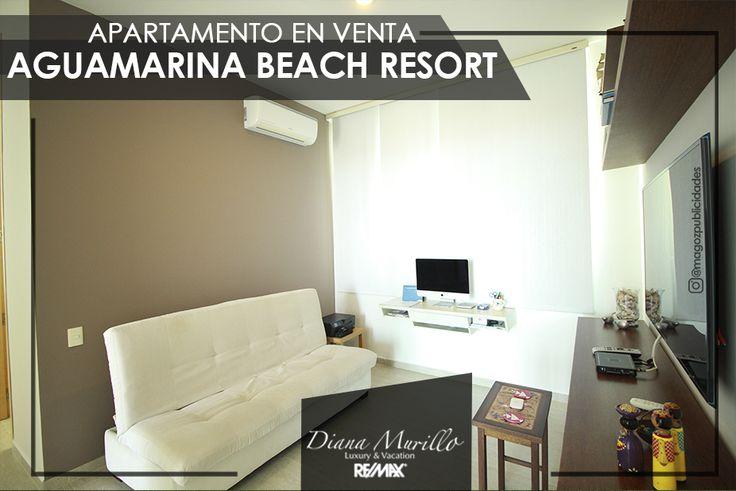 Deléitate de una espectacular vista al mar caribe en este confortable apartamento de 167 m2 ubicado en el piso 7 de la torre Olas II en Aguamarina Beach Resort.