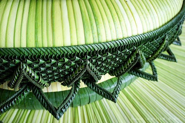 Palm frond sculptures