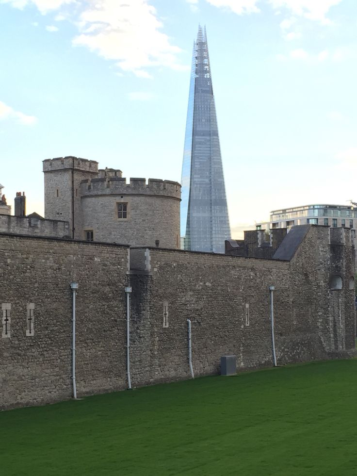 the old Tower of London and a new tower in London.