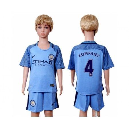 Manchester City Fotbollskläder Barn 16-17 Vincent #Kompany 4 Hemmatröja Kortärmad,248,15KR,shirtshopservice@gmail.com