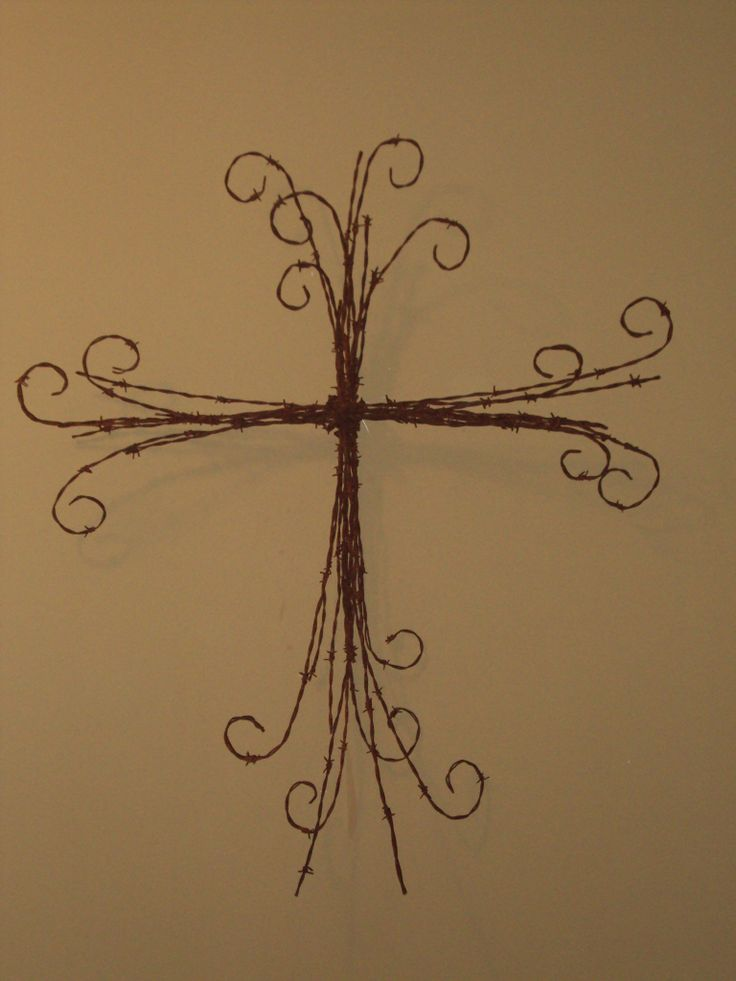 Thicker barb wire cross.