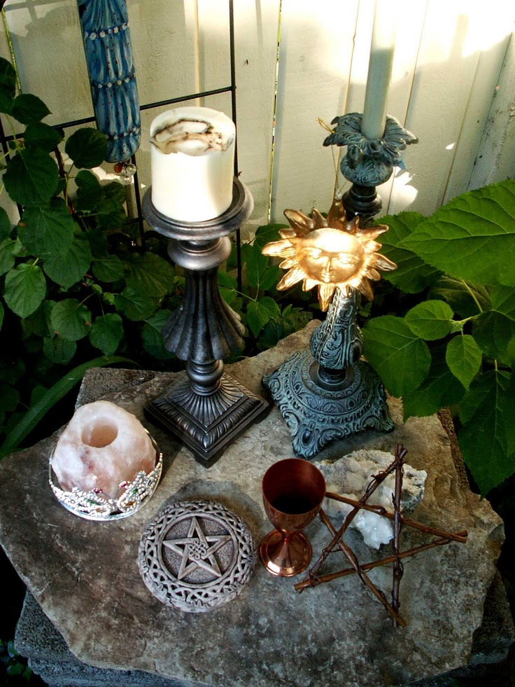 Wiccan Altar.