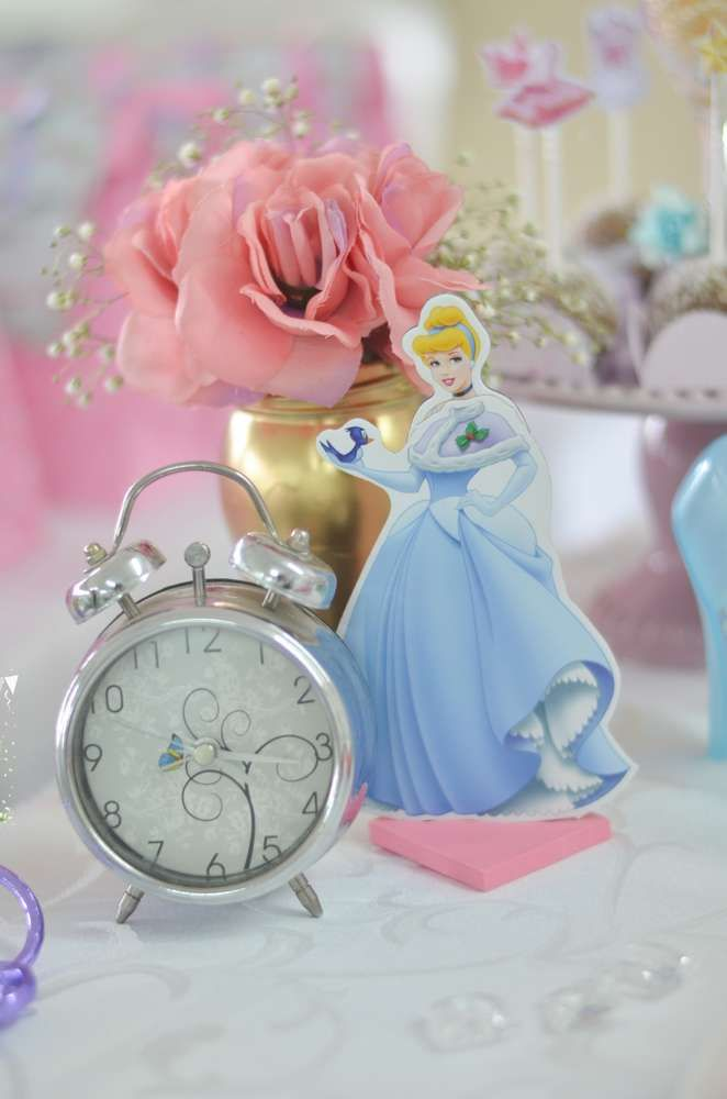 Cinderella decorations at a princess birthday party! See more party ideas at CatchMyParty.com!