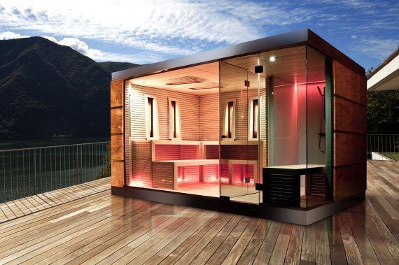 Moderne sauna buiten