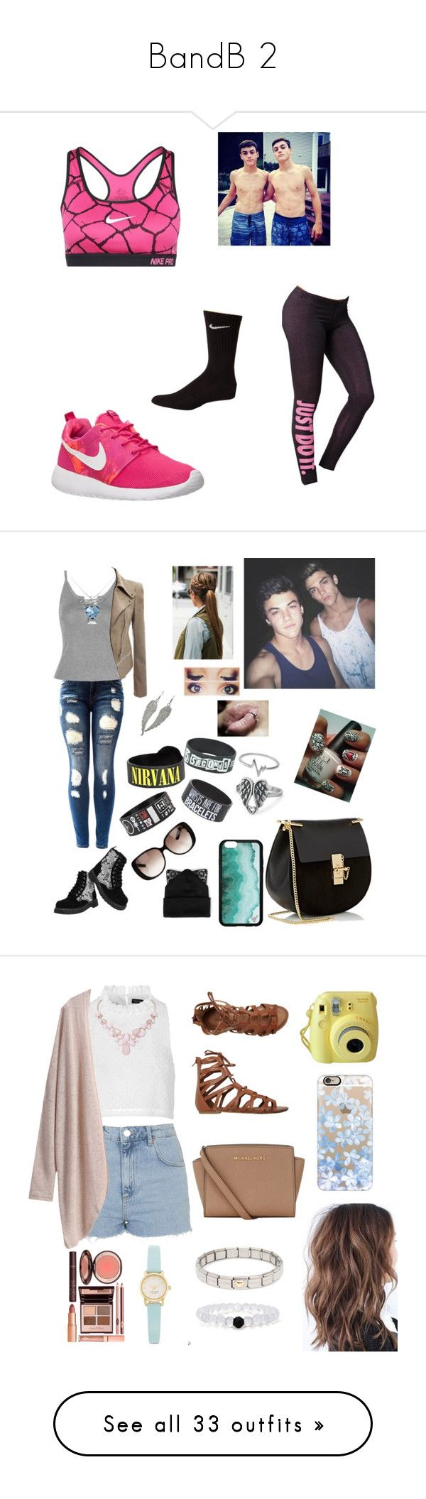 """""""BandB 2"""" by catilynhartzog ❤ liked on Polyvore featuring NIKE, Dolan, WithChic, T.U.K., Chloé, Gucci, Silver Spoon Attire, Natures Jewelry, Jewel Exclusive and Topshop"""