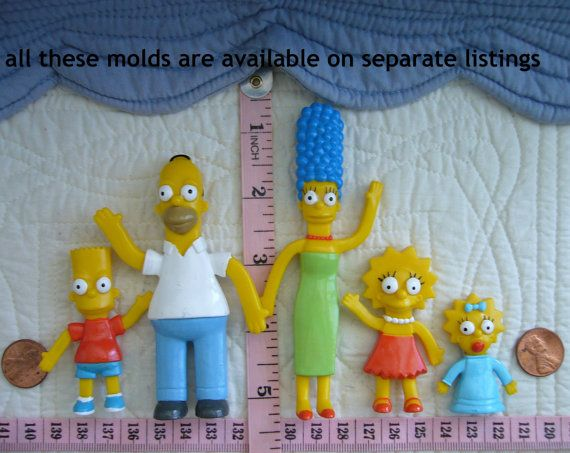 Bart Simpson and family, silicone molds by MoldCreationsNmore on etsy.com https://www.etsy.com/ca/listing/222505156/bart-simpson-inspired-food-grade?ref=sr_gallery_2