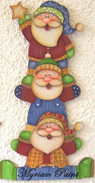 Just looking at picture. Paint HO Ho Ho in evergreen with xmas decoration style and a present as bottom of tree. Hang outside or inside.