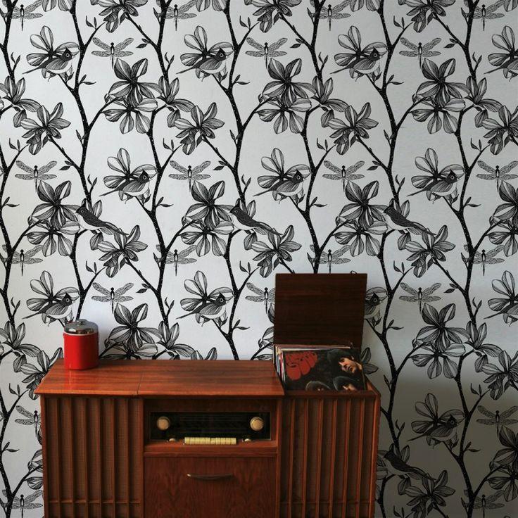 The English Garden Wallpaper in Silver | www.wallpaperantics.com.au