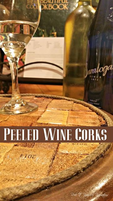 How to Peel Wine Corks and Flatten Them