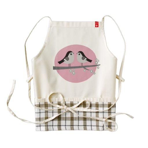 Stylish Kitchen apron with Love birds
