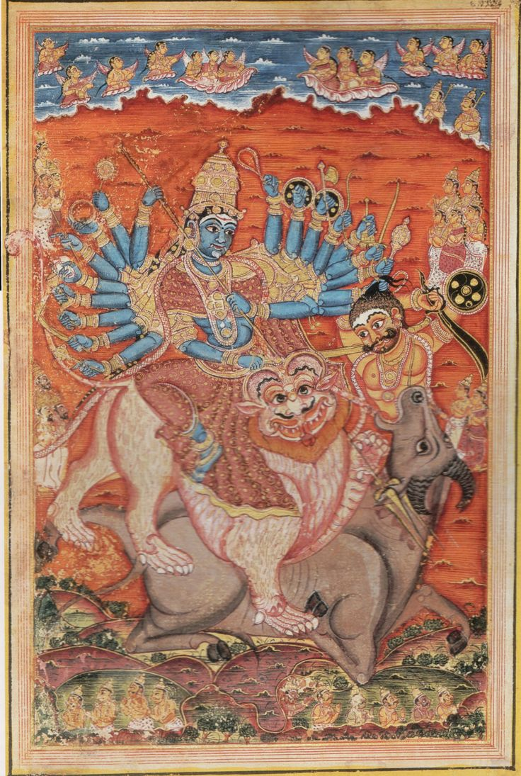 Mahishasura mardhini Mysore Devi Mahatmya 1830-1835