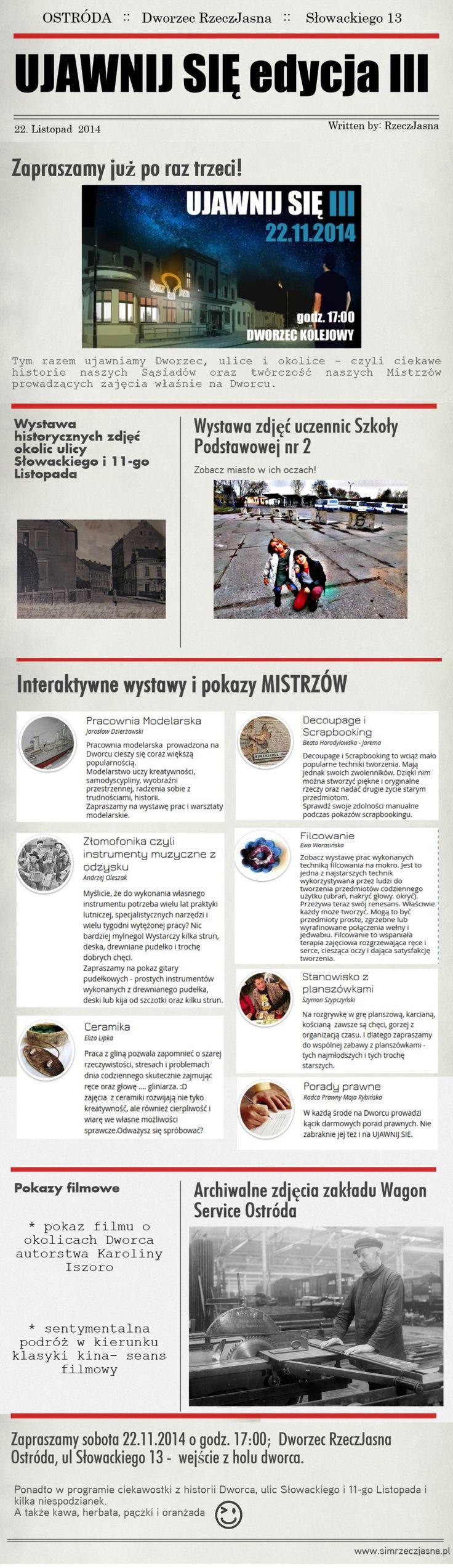 Program III edycji UJAWNIJ SIĘ - infografika
