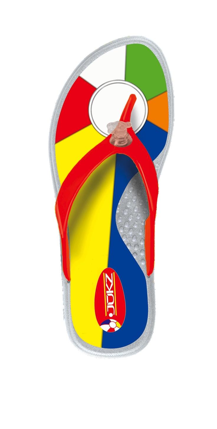Beachball Flip Flops / Beach Flip Flops from Jukz Shoes!