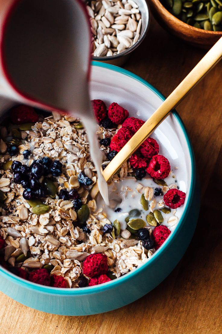 Start your morning off right with this superfood packed muesli! Gluten free, vegan, and packed with nutrients.
