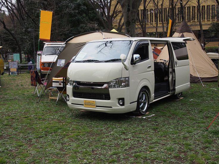 ハイエース FD-BOX5 カスタムデモカー:ペンドルトンコラボカスタム【東京アウトドアフェスティバル】出展しました PENDLETON custm : Toyota HIACE