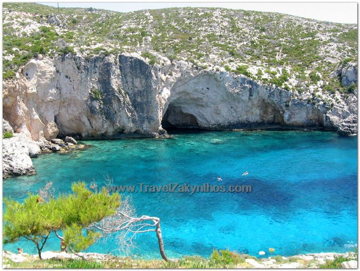Limnionas Beach!One of the best options for crytal blue waters and caves all around the beach!