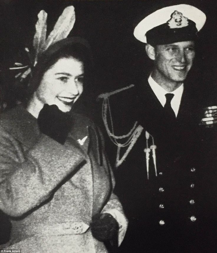 First impressions: In what is thought to be one of the Queen's favourite photographs, Elizabeth arrives in Malta for the first time in 1949