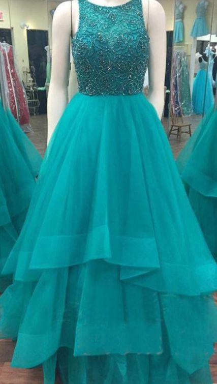 Long Prom Dress,Prom Dresses, Blue Prom Dresses, Sexy Prom Dresses