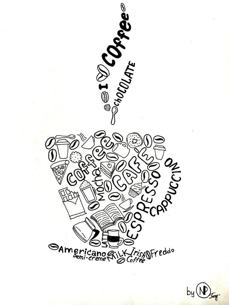 Doodle ''Coffee'' by Natalia Pokrovskaya by