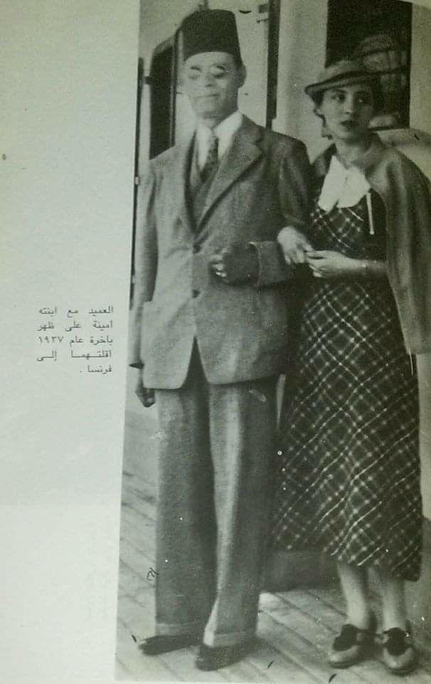 عميد الادب العربي الدكتور طه حسين مع ابنته امينه علي متن الباخره التي اقلتهما الي فرنسا عام 1937م Style Fashion Formal