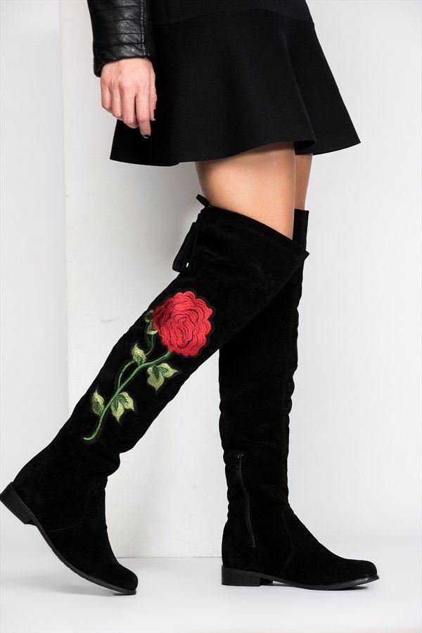 Fox Shoes Siyah Kadın Çizme