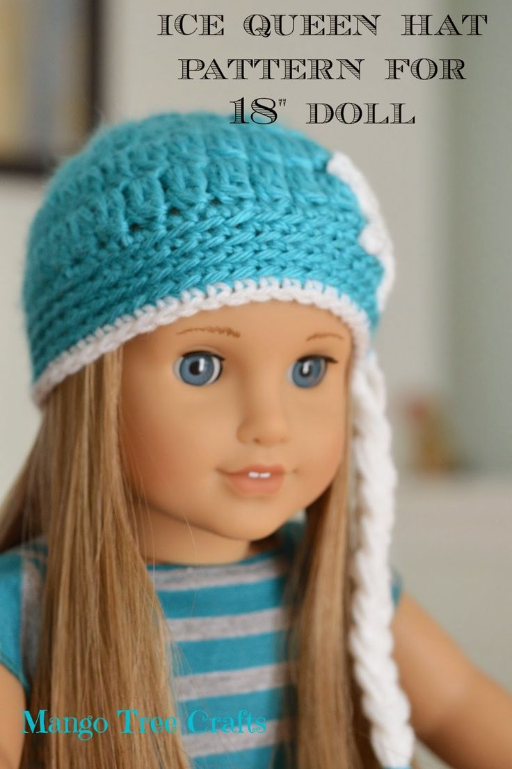 300 best crochet doll clothesaccessories images on pinterest ice queen crochet hat pattern for american girl doll bankloansurffo Choice Image