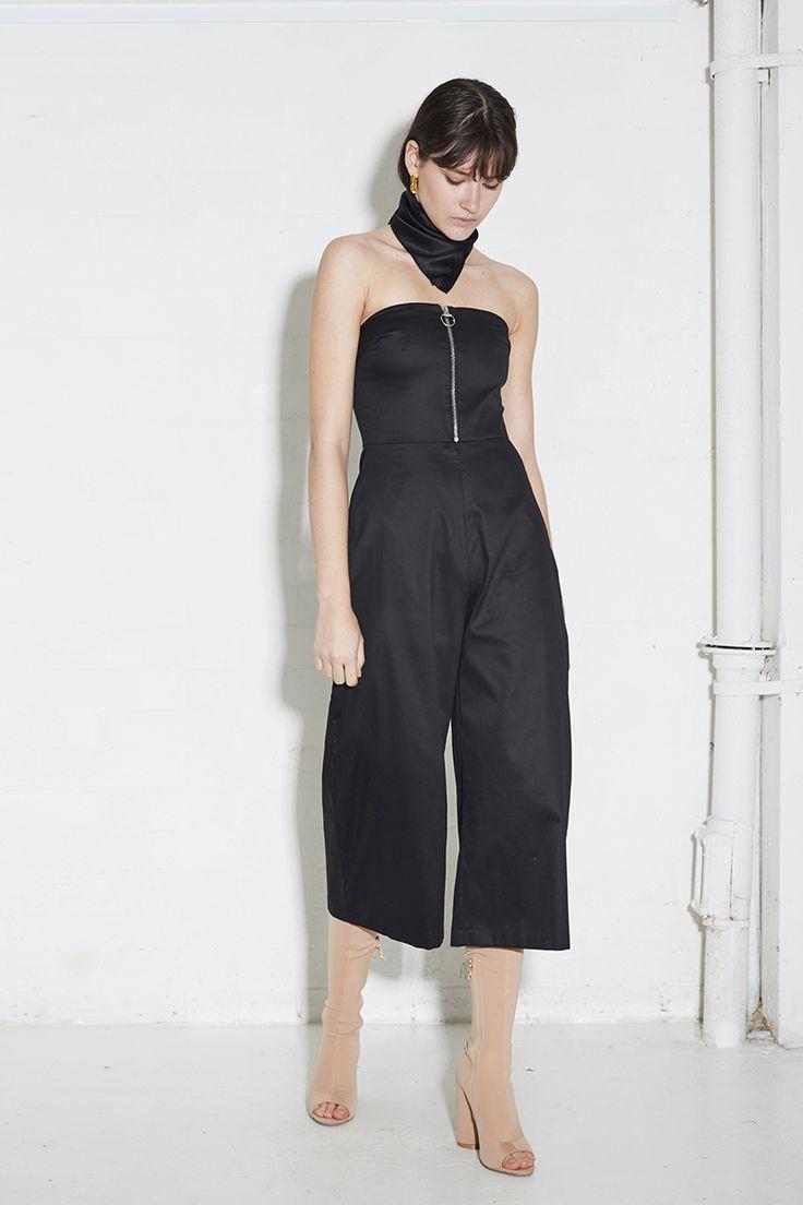 THIRD FORM SPRING 16 'CROSS ROADS JUMPSUIT'  #thirdform #dress #fashion #streetstyle #style #minimal #trend #black #minimalfashion