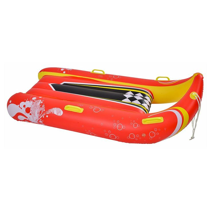 Blue Wave Sports Power Glider 2-Person Inflatable Snow Sled, Multicolor